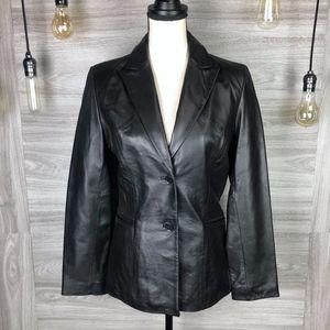 Kenneth Cole Reaction Genuine Leather Blazer